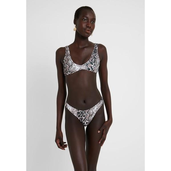 Missguided ANIMAL PRINT HIGH LEG EXCLUSIVE SET Bikini black/brown M0Q81L01B