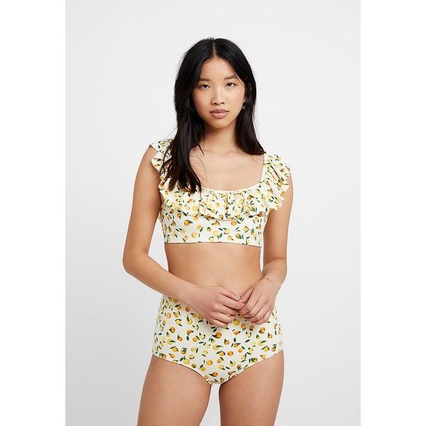 Monki FRILL SET Bikini yellow MOQ81L003