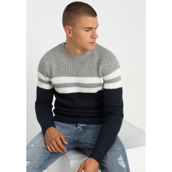 Only & Sons ONSLAZLO STRIPED CREW NECK Sweter blue nights OS322Q07F