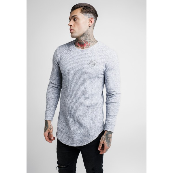 SIKSILK CREW NECK JUMPER Sweter light grey SIF22Q006