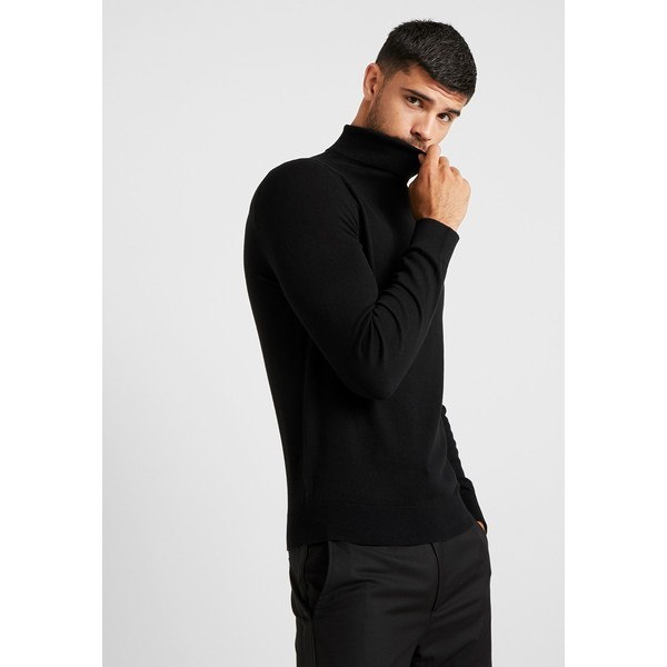 Burton Menswear London CORE ROLL Sweter black M0822Q077