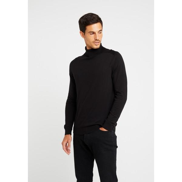 Benetton ROLL NECK Sweter black 4BE22Q04D