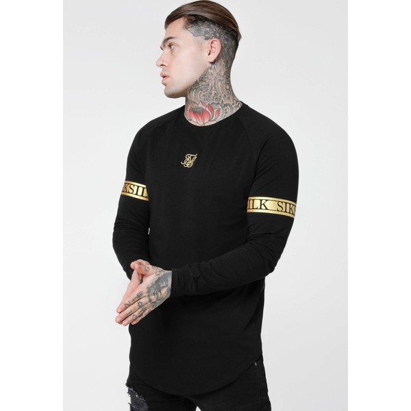 SIKSILK LONG SLEEVE TECH TEE Bluzka z długim rękawem black SIF22O05S