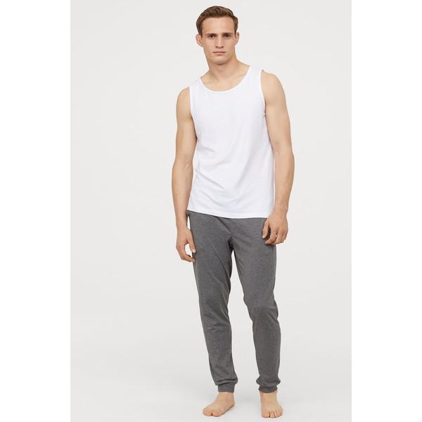 H&M Spodnie piżamowe 0713380005 Szary melanż