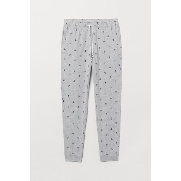 H&M Spodnie piżamowe 0713380005 Jasnoszary melanż/Kotwice
