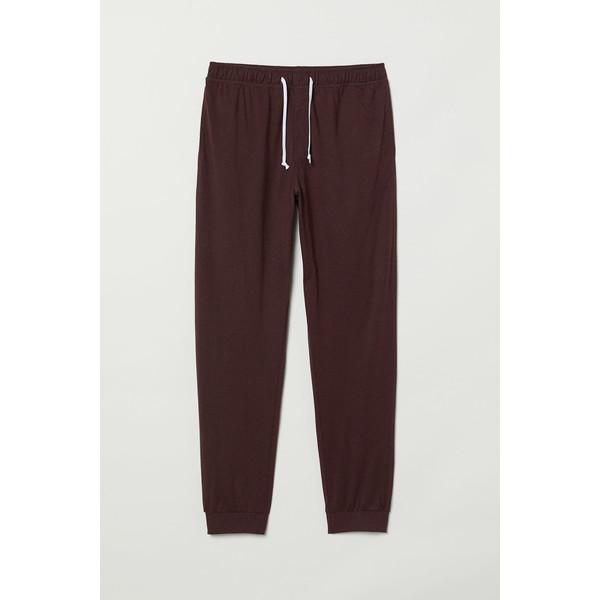 H&M Spodnie piżamowe 0713380005 Burgundowy