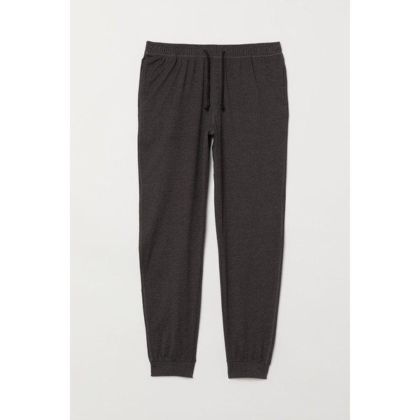 H&M Spodnie piżamowe 0713380005 Ciemnoszary melanż