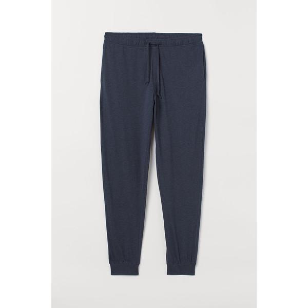 H&M Spodnie piżamowe 0713380005 Ciemnoniebieski melanż