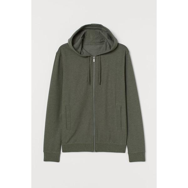 H&M Bluza z kapturem Slim Fit 0805455004 Zieleń khaki