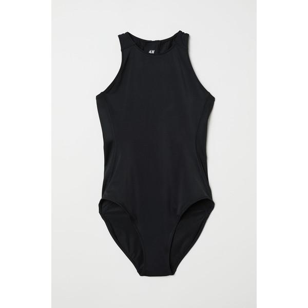 H&M Sportowy kostium kąpielowy 0666656004 Czarny