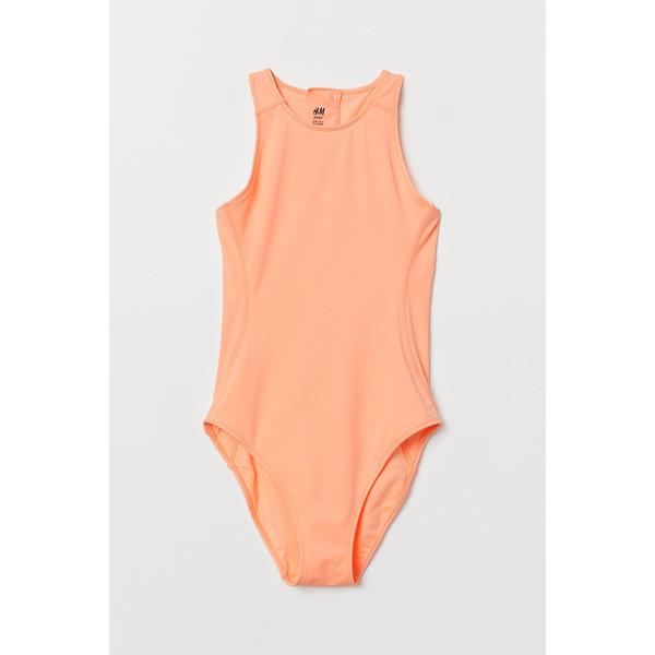 H&M Sportowy kostium kąpielowy 0666656004 Morelowy