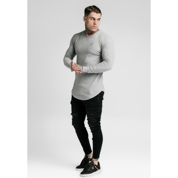 SIKSILK LONG SLEEVE BRUSHED GYM TEE Sweter grey SIF22Q00B