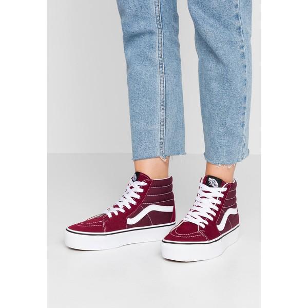 Vans SK8 PLATFORM Sneakersy wysokie burgundytrue white