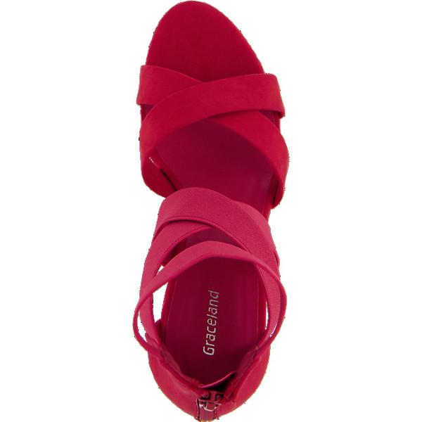 Graceland sandały damskie na koturnie 1174827 UbierzmySie.pl