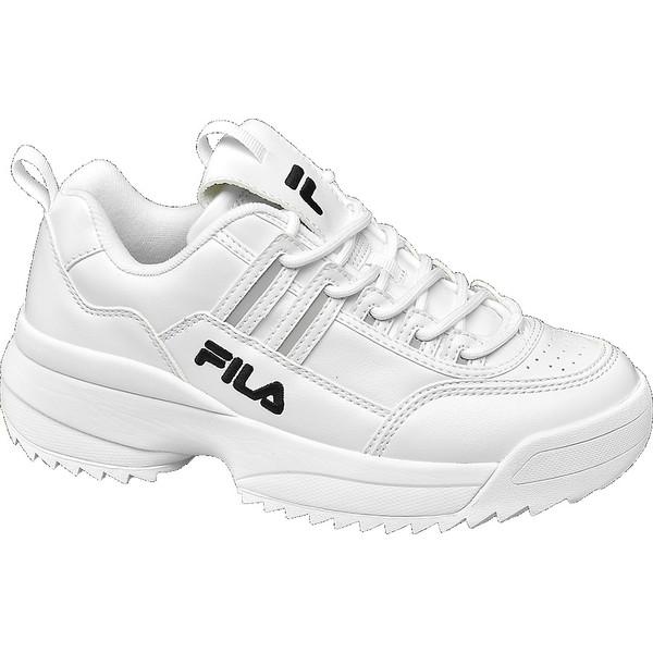 srebrne sneakersy damskie Fila na białej podeszwie 18201688