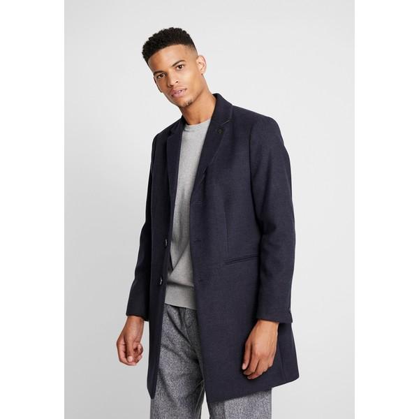Burton Menswear London FAUX CROMBI Płaszcz wełniany /Płaszcz klasyczny navy M0822T03H