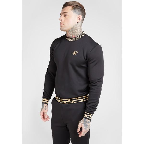 SIKSILK CHAIN Bluzka z długim rękawem black/gold SIF22S020