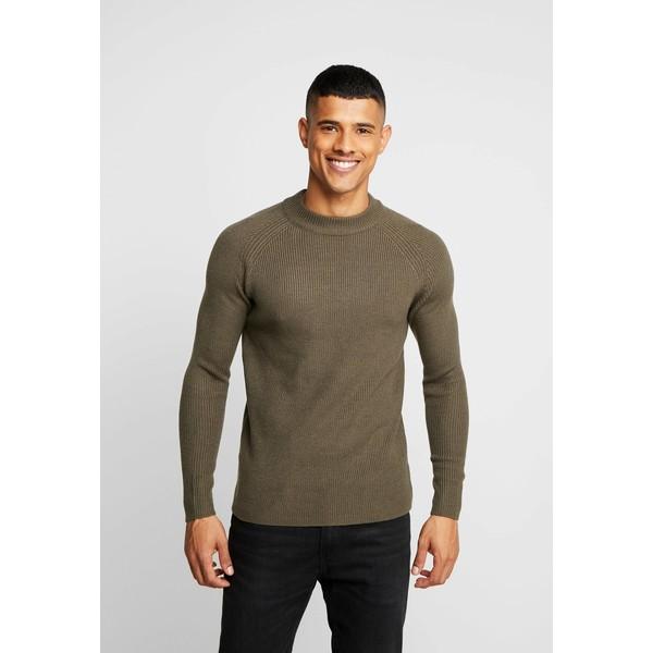 Burton Menswear London FISHERMAN Sweter khaki M0822Q08P