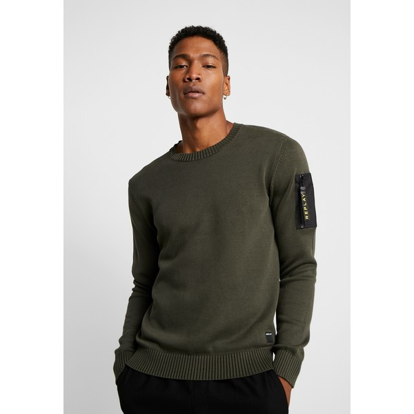 Replay Sweter olive RE322Q014