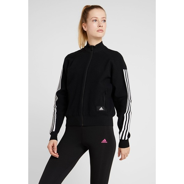 adidas Performance Bluza rozpinana black AD541G0AS