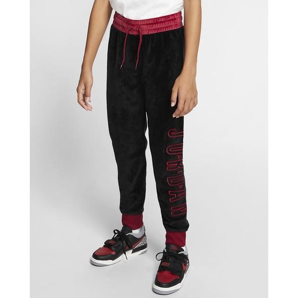 Air Jordan Spodnie z weluru z mankietami dla dużych dzieci (dziewcząt) CT4932
