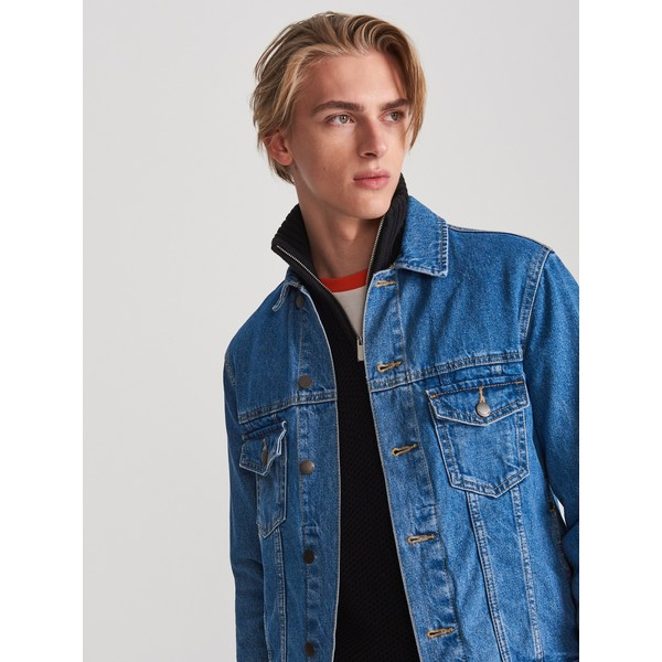 Reserved Jeansowa kurtka z napisem WP198-55J
