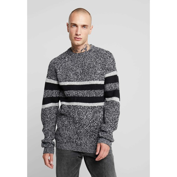 Only & Sons ONSCESCO STRUC STRIPE Sweter medium grey melange OS322Q090