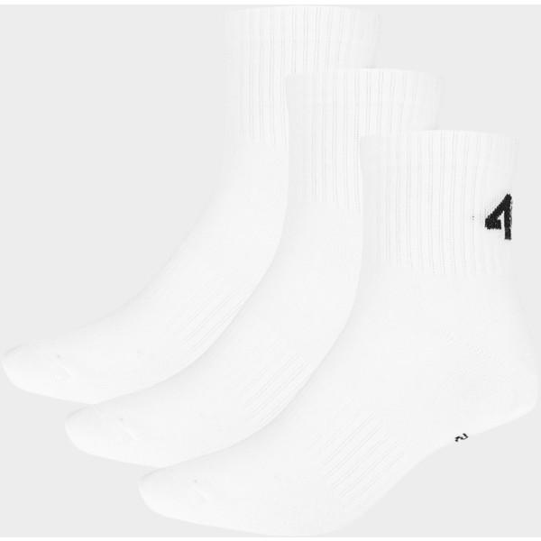 4F Skarpetki męskie SOM302 - biały+biały+biały D4Z19-SOM302-10S+10S+10S