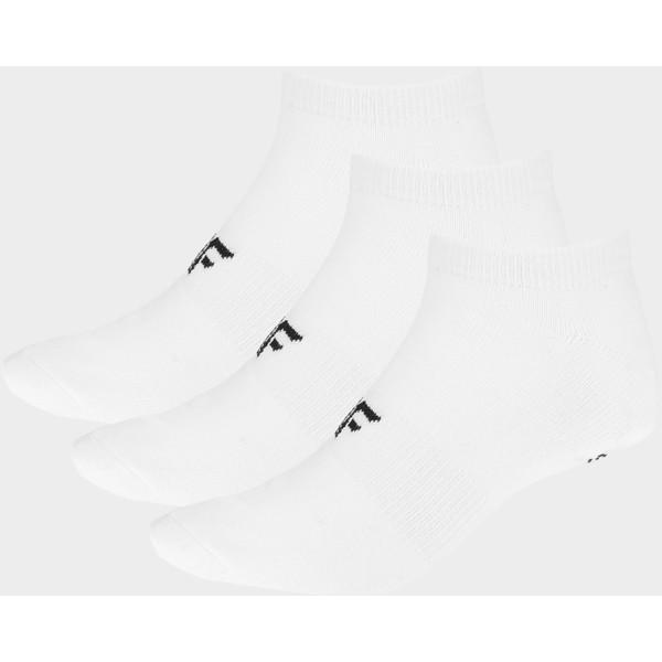 4F Skarpetki męskie SOM301 - biały+biały+biały D4Z19-SOM301-10S+10S+10S