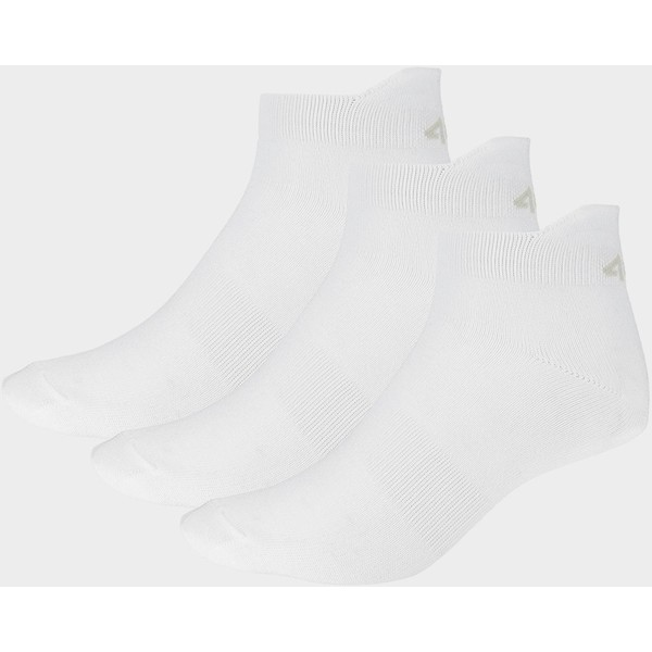 4F Skarpetki męskie SOM201 - biały+biały+biały D4Z19-SOM201-10S+10S+10S