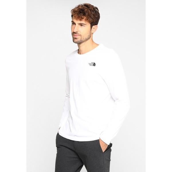 The North Face MENS EASY TEE Bluzka z długim rękawem white/black TH342D01G