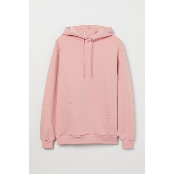 H&M Bluza z kapturem 0685814036 Różowy