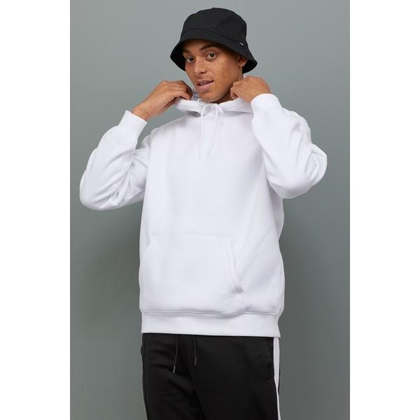 H&M Bluza z kapturem 0685814036 Biały