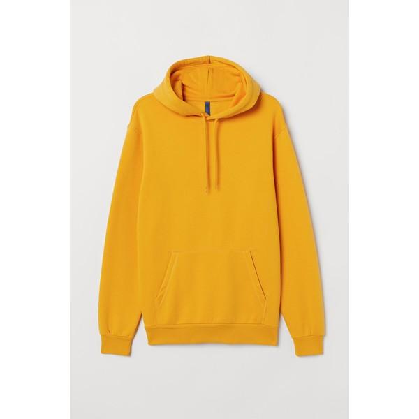 H&M Bluza z kapturem 0685814036 Ciemnożółty