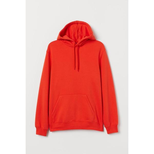 H&M Bluza z kapturem 0685814036 Pomarańczowy