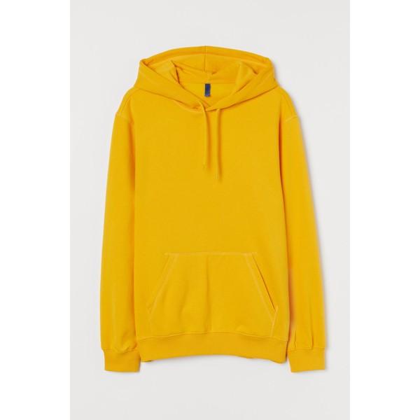 H&M Bluza z kapturem 0685814036 Żółty