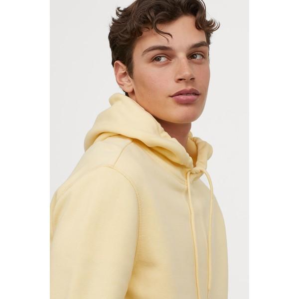 H&M Bluza z kapturem 0685814036 Jasnożółty