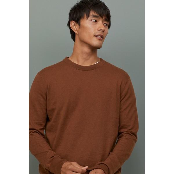 H&M Sweter z domieszką kaszmiru 0760250004 Brązowy