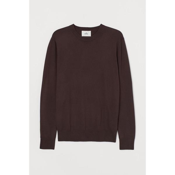 H&M Sweter z domieszką kaszmiru 0760250009 Ciemnobrązowy