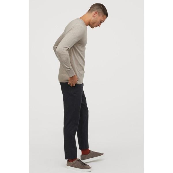 H&M Sweter z domieszką kaszmiru 0760250009 Jasny szarobeżowy
