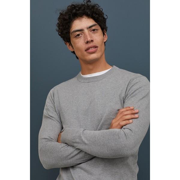 H&M Sweter z domieszką kaszmiru 0760250009 Szary melanż