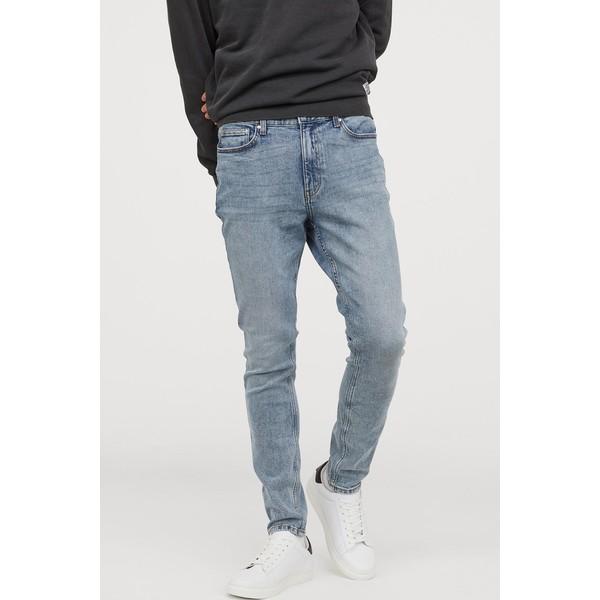 H&M Skinny Jeans 0664647026 Jasnoniebieski denim/Sprany