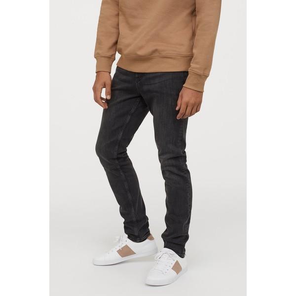 H&M Skinny Jeans 0664647026 Czarny sprany