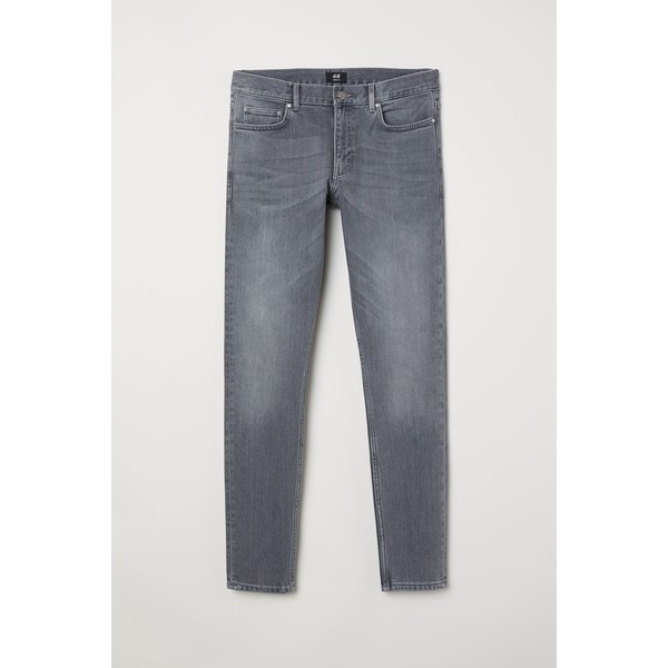 H&M Skinny Jeans 0664647026 Szary denim