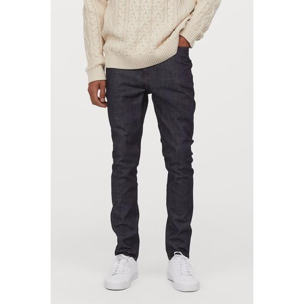 H&M Skinny Jeans 0664647026 Ciemnoniebieski/Sprany