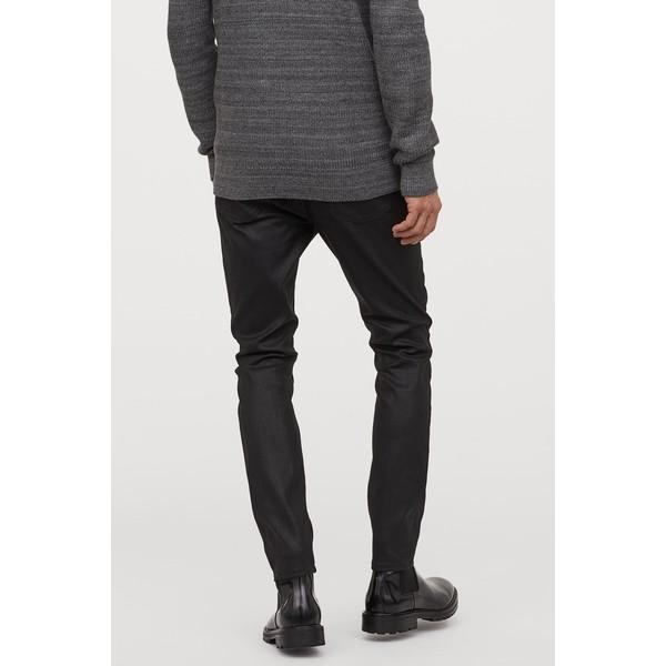 H&M Skinny Jeans 0664647026 Czarny/Powlekany