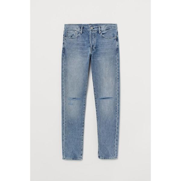 H&M Slim Straight Jeans 0611020022 Jasnoniebieski denim/Trashed
