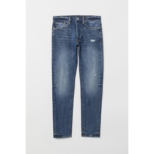 H&M Slim Straight Jeans 0611020022 Jasnoniebieski/Trashed