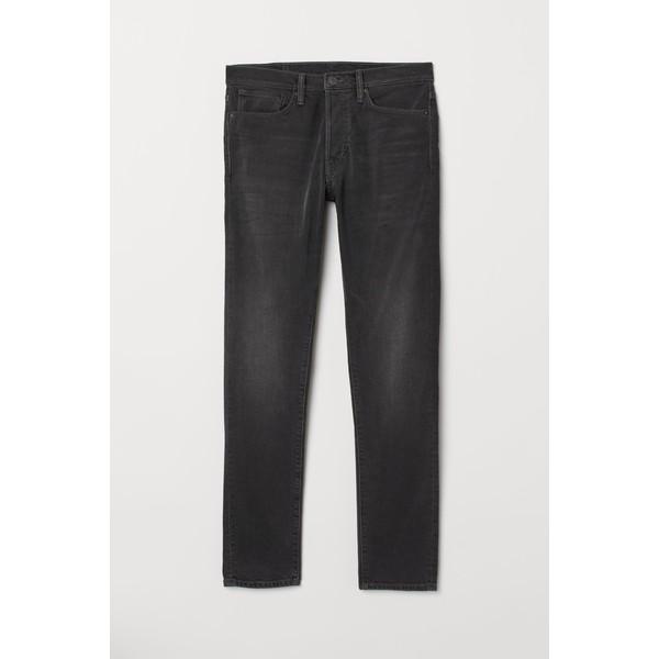 H&M Slim Straight Jeans 0611020022 Ciemnoszary denim