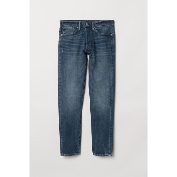 H&M Slim Straight Jeans 0611020022 Niebieski denim